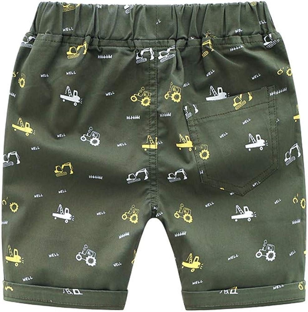 Mud Kingdom Little Boys Chino Shorts Cute Pattern with 2 Pockets