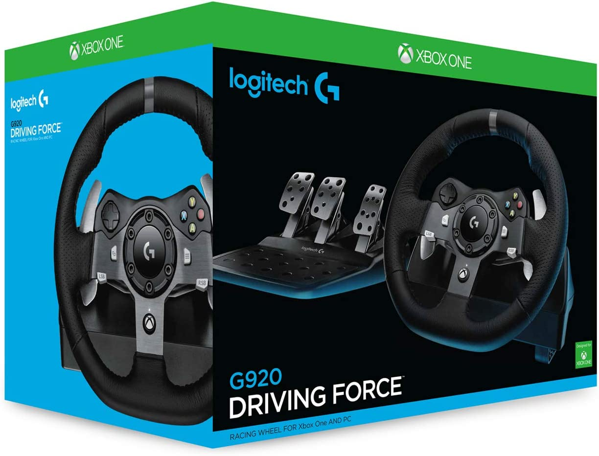 Logitech G920 Driving Force Volante de Carreras y Pedales, Force ...