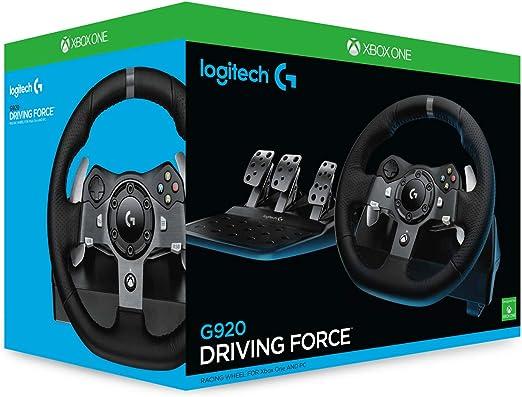Logitech G920 Driving Force Volante de Carreras y Pedales, Force ...