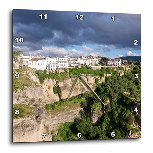 3dRose Danita Delimont - Mountains - Spain, Andalusia, Ronda. - 13x13 Wall Clock (dpp_277901_2) by 3dRose