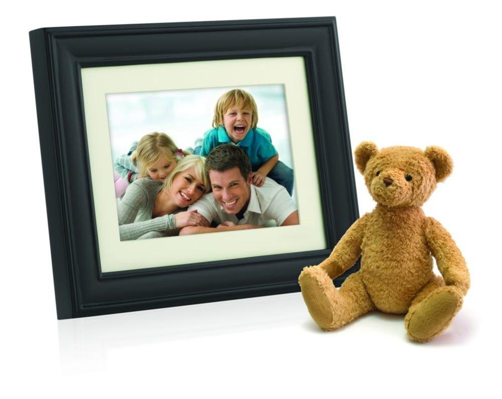 Philips 10.4-Inch Digital Photo Frame Brown Wood Frame