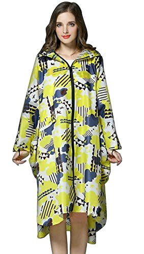 Ouvin - Abrigo impermeable - para mujer amarillo amarillo Large