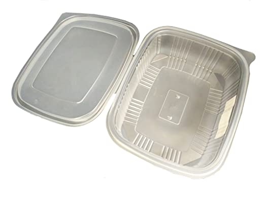 Pack de 25 recipientes desechables con tapa, para alimentos ...