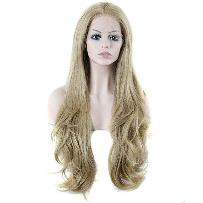 YEEOGL Mujeres Largo Rizado Disfraces Pelucas Blonde Cosplay Disfraces Ladies Wig Party,Gold-OneSize: Amazon.es: Ropa y accesorios