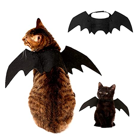 1Pc Pet Halloween Bat Wings Disfraz, Gato Perro Cool Bat Wings Cosplay Accesorio para Halloween