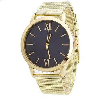 Relojes para Mujer,Winkey Mujer Mujer Plata Acero Inoxidable Banda de malla reloj de pulsera dorado: Amazon.es: Hogar
