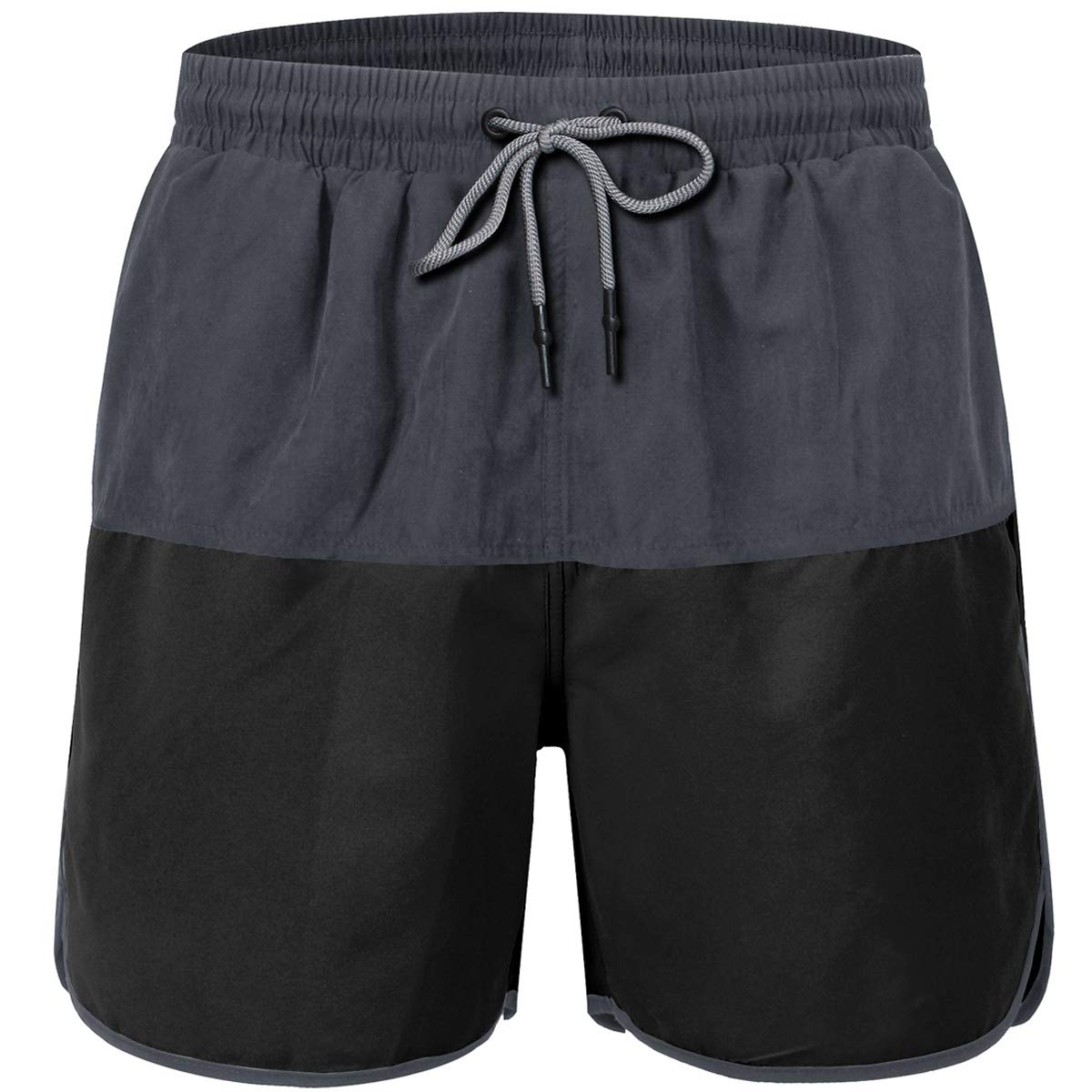 JINSHI Men/'s Beach Shorts Swim Trunks Mesh Lining Quick Dry Elastic Beachwear