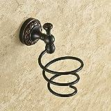 OLQMY-Bathroom Shelves, American Style Black Bronze Hair Dryer