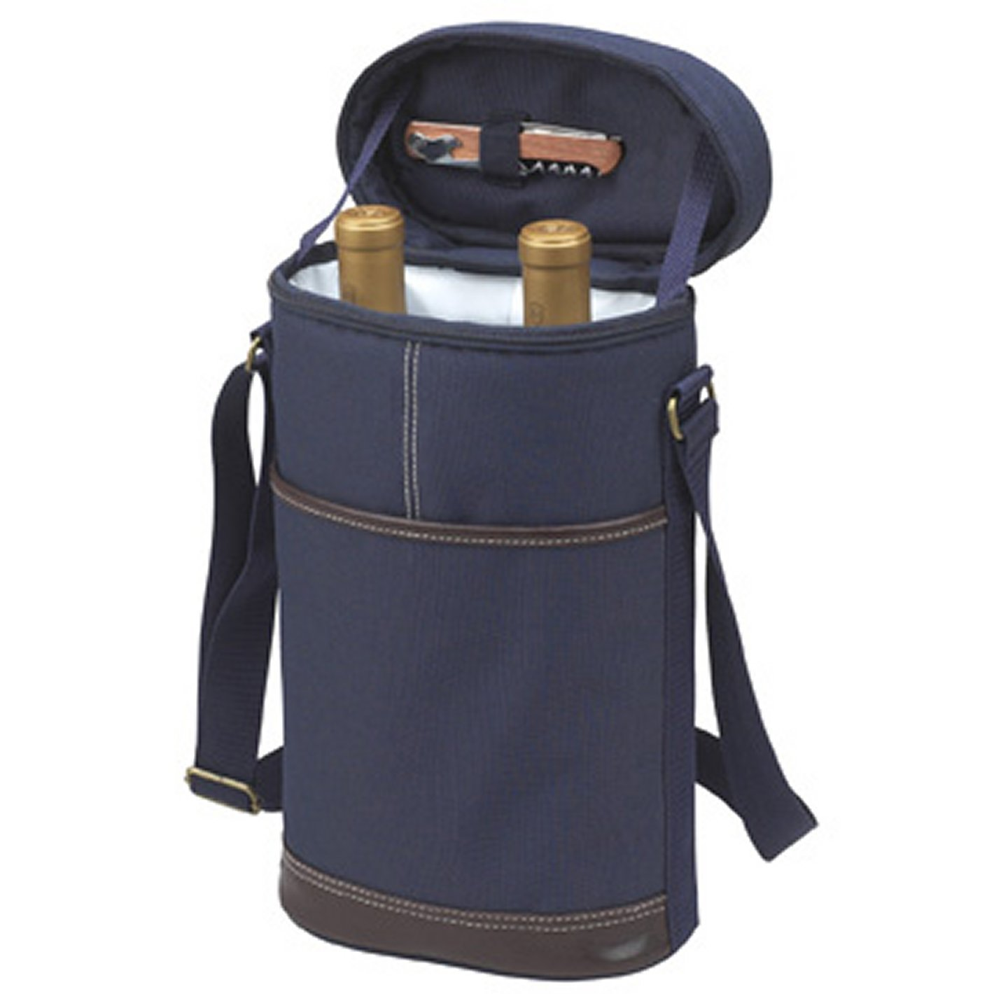 Picnic at Ascot 135-B Two Bottle Insulated Tote in Blau