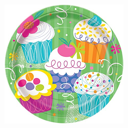 Cupcake Party Dinner Plates, (Easy Halloween Cupcake Ideas)