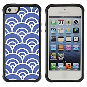 "Pulsar iFace Series Tpu silicona Carcasa Funda Case para Apple iPhone SE / iPhone 5 / iPhone 5S , Blue Waves Artístico Wallpaper Vintage"""