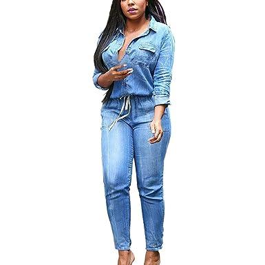 Pantalones Siamesi para mujer Abcone Chándal Jumpsuit mujer ...