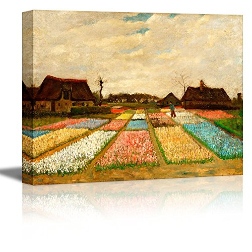 Bulb Fields (also called Flower Beds in Holland) by Vincent Van Gogh Oil Painting Reproduction