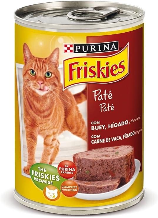 Purina Friskies Paté Pienso para Gato Adulto Buey y Higado 24 x ...