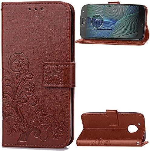 Lomogo Motorola Moto G5S Plus ケース 手帳型 耐衝撃 レザーケース 財布型 カードポケット スタンド機能 マグネット式 モトローラG5SPlus 手帳型ケース カバー 人気 - LOSDA041229 茶