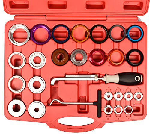 - Crankshaft and Camshaft Seal Remover and Installer Kit - Crank Bearing and Cam Oil Seal Installing Tool Set - Universal Master Kit with 27mm to 58mm Adapters - Oil Seal Installation & Puller
