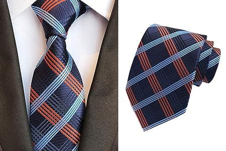 QEHWS Corbata Corbata Clásica para Hombre, Corbata A Cuadros ...