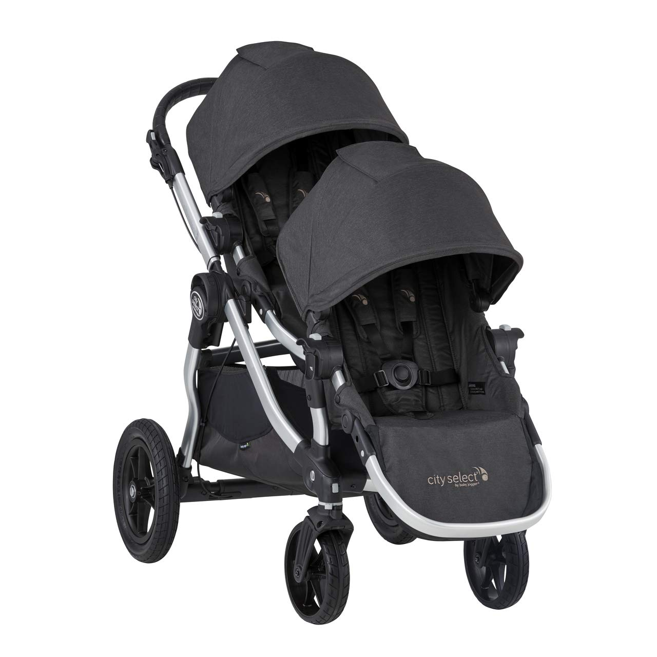 2019 Baby Jogger City Select Double Stroller (Jet)