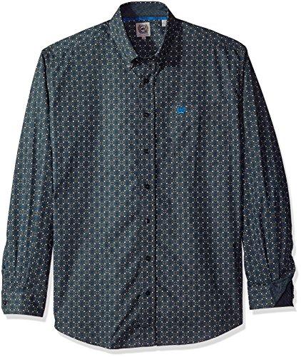 - Cinch Men's Classic Fit Long Sleeve Button One Open Pocket Print Shirt, Royal Medallion, Medium
