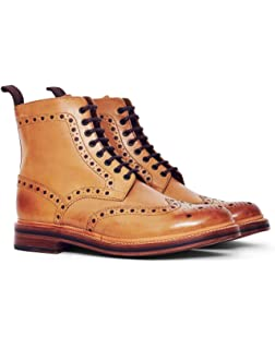 59a390034ccdb Grenson Fred Tan Boots 10  Amazon.co.uk  Shoes   Bags