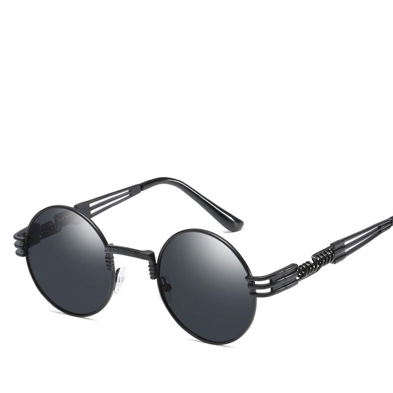 Amazon.com: Gafas de sol con marco redondo y patas de espejo ...