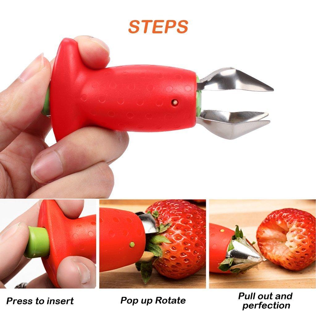 Compra TheWin 2 x pelador pelador Cortador de Fresas Limones cítricos Herramienta de plástico Ideal para la Fruta pelador 2PCS Banana Slicer 2PCS Banana ...
