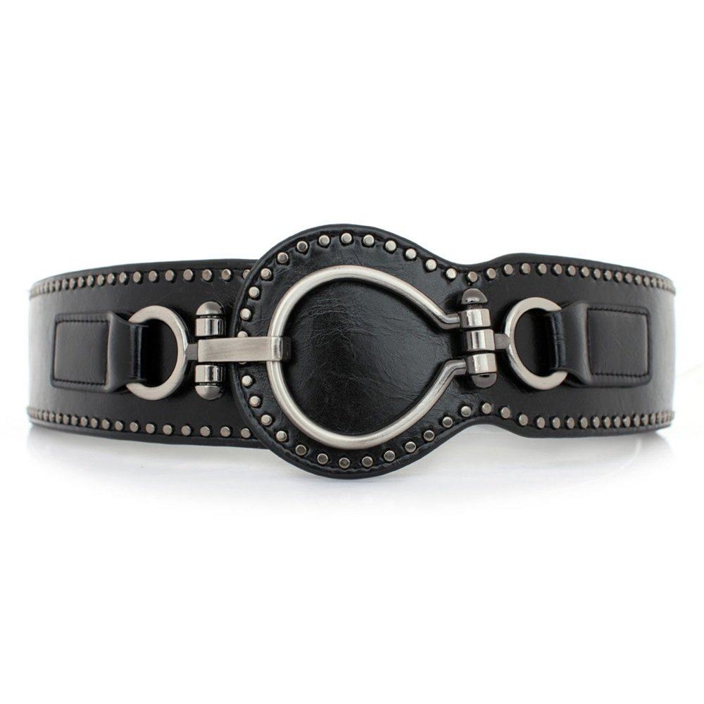 Melodycp Elegante Cinturón Reversible de Cuero para Mujer Correa de Cuero Genuino de Las señoras con la Hebilla del Perno para los Pantalones de Vestir Elegante
