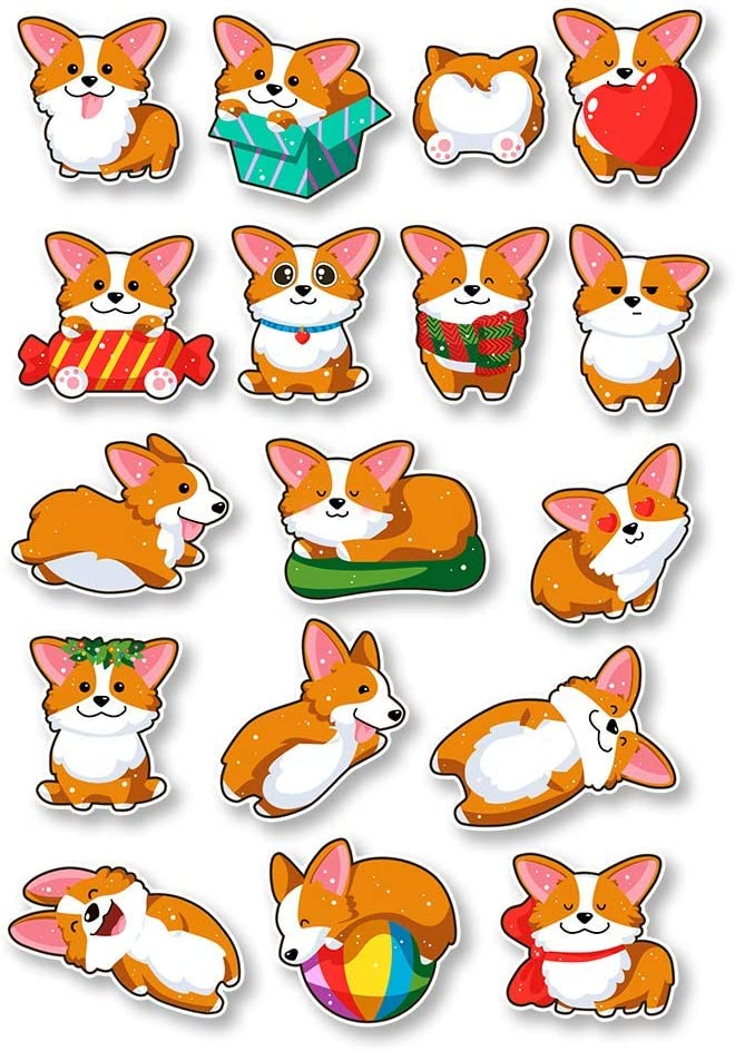 IT'S A SKIN Corgi Set | Vinyl Sticker Decal for Laptop Tumbler Car Notebook Window or Wall | Funny Novelty Decal