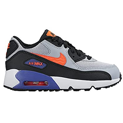 huge selection of 99ae1 c341d NIKE Air Max 90 Mesh Little Kids Preschool Boys Shoe Wolf Grey Total Crimson  Orange White Dark Purple  Amazon.co.uk  Shoes   Bags