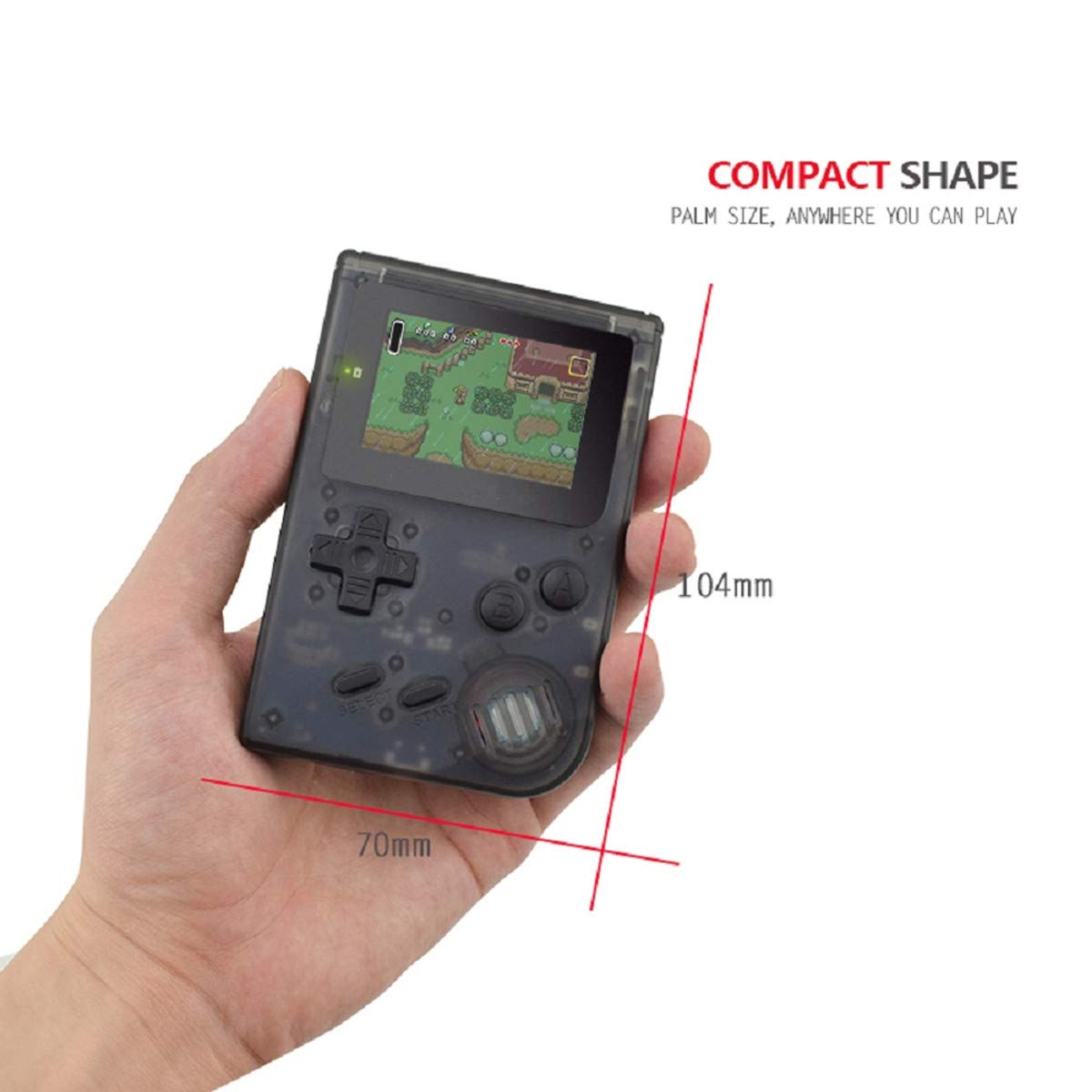 BAORUITENG Handheld Games Consoles , Retro TV Game Console Video Game Console Player 2.0 Inch Game Console with 1169 GBA System Classic Games for Kids Gift (Black) by BAORUITENG (Image #6)