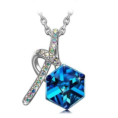 492ecf2e8bb5 Kate Lynn Happy Cube Collar para Mujer Colgante Cristale Azule Swarovski  Joya Regalo Mujer Cumpleaños de Navidad San Valentin Dia Madre Mama  Aniversario ...