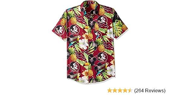 NCAA Mens Floral Shirt Ohio State University Buckeyes Medium
