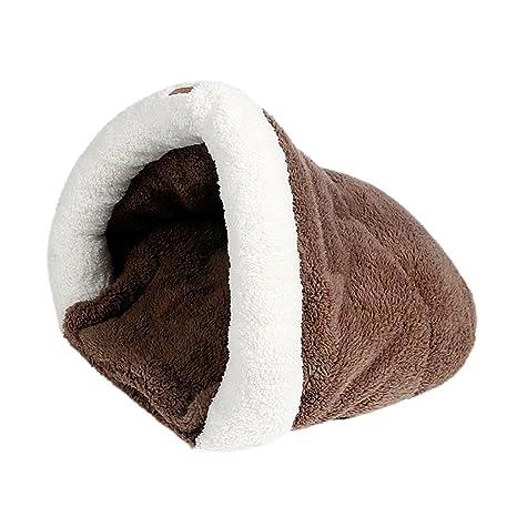 sharplace suave cálido Peluche Cama Saco de dormir huecas Casa Alfombrilla Para Perros De Gato Nido