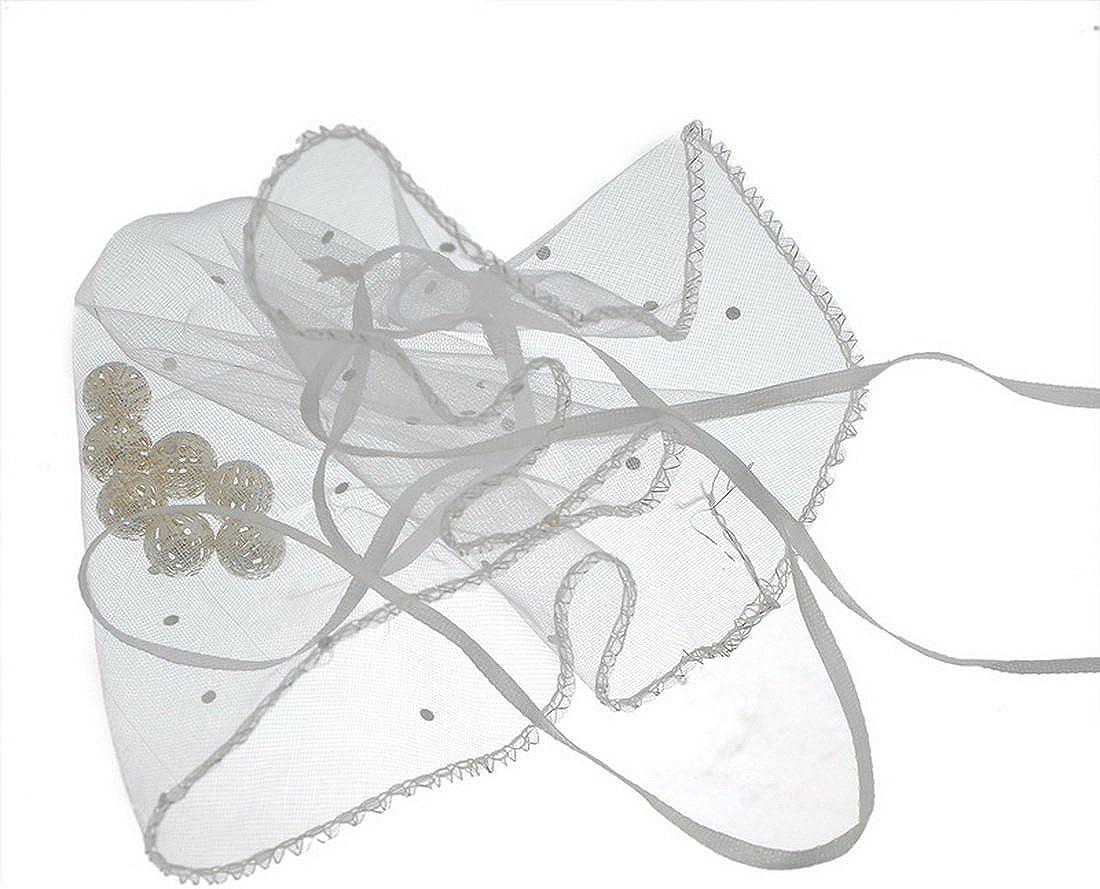 URIJK 25 St/ück Rund 25cm Transparent Organzabeutel Organzas/äckchen Schal Beutel Geschenkbeutel Tunnelzug Schmuck Beutel Geschenk Beutel Schmuckbeutel
