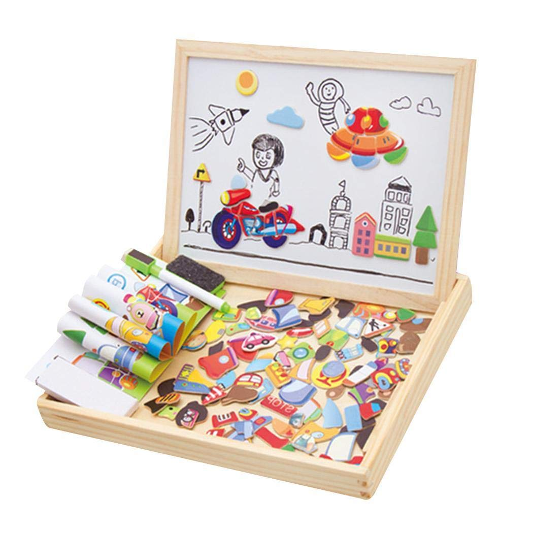 DAZZILYN DIY Magnetic Puzzle, Children DIY Multicolor Three-Dimensional Magnetic Puzzle Toy