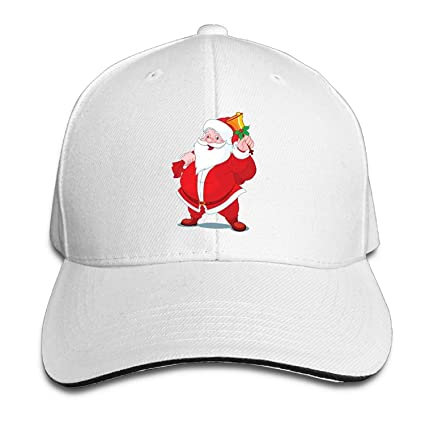 Amazon.com   Gorgeous home Men s Women s Christmas Santa Claus Bell Cotton  Adjustable Peaked Baseball Cap Adult Sandwich Hat   Sports   Outdoors 628b1a3137c0