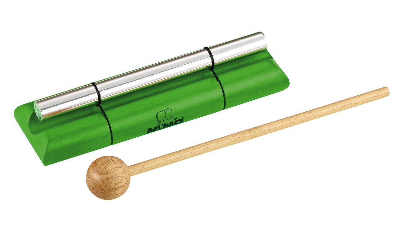 Nino Percussion NINO579M-GR Medium Handheld Energy Chime, Green Meinl