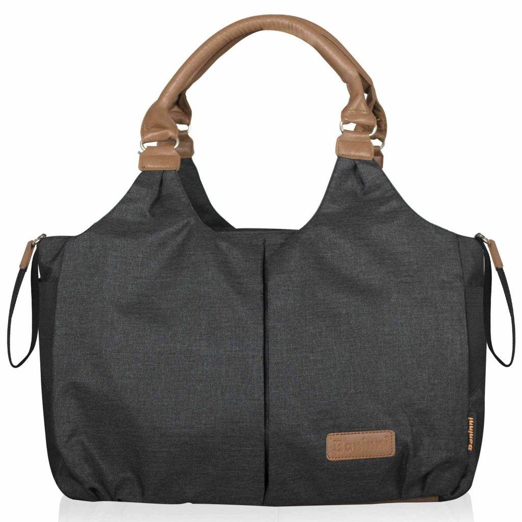 Baninni Wickeltasche Palermo Schwarz Windeltasche Babytasche Pflegetasche
