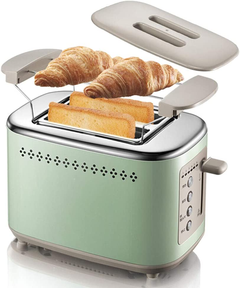 Toaster,Home Multifunctional Breakfast Machine Extra Wide Slots Stainless Steel Toaster with 6 Bread Browning Settings