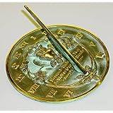 Rome 2329 Thoreau Sundial, Solid Brass with Verdigris Highlights, 8.5-Inch Diameter