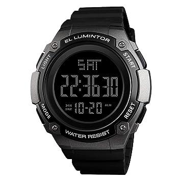 LJS-BQ Reloj Digital para Hombre, Reloj Deportivo con Pantalla Retroiluminada con Fecha Y