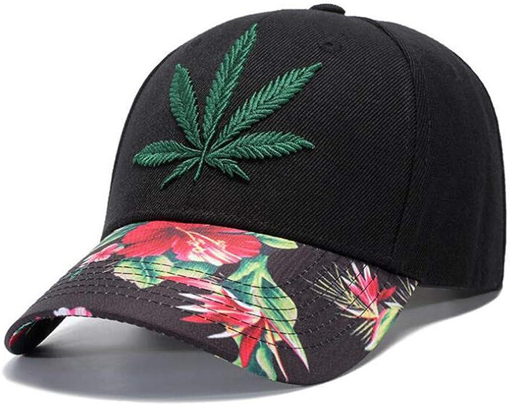Mens Hats Caps Hot Hemp Leaf Embroidery Snapback Hat Cap Baseball Cap Hip Hop Outdoor Adjustable Unisex