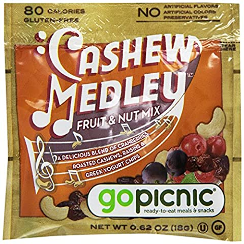 GoPicnic Sweet Perry Orchards Cashew Medley Fruit & Nut Mix, Snack Packs, 50 Count - Plump Sweet