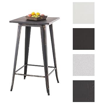 CLP Table Haute de Bistro LOGAN style Mange-debout - Table en Métal ...