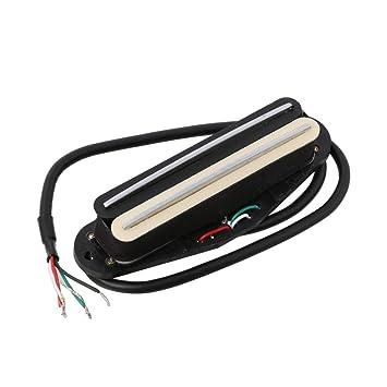lyws doble hoja diseño de guitarra eléctrica pastilla para ST Inicio, Black+Ivory: Amazon.es: Instrumentos musicales