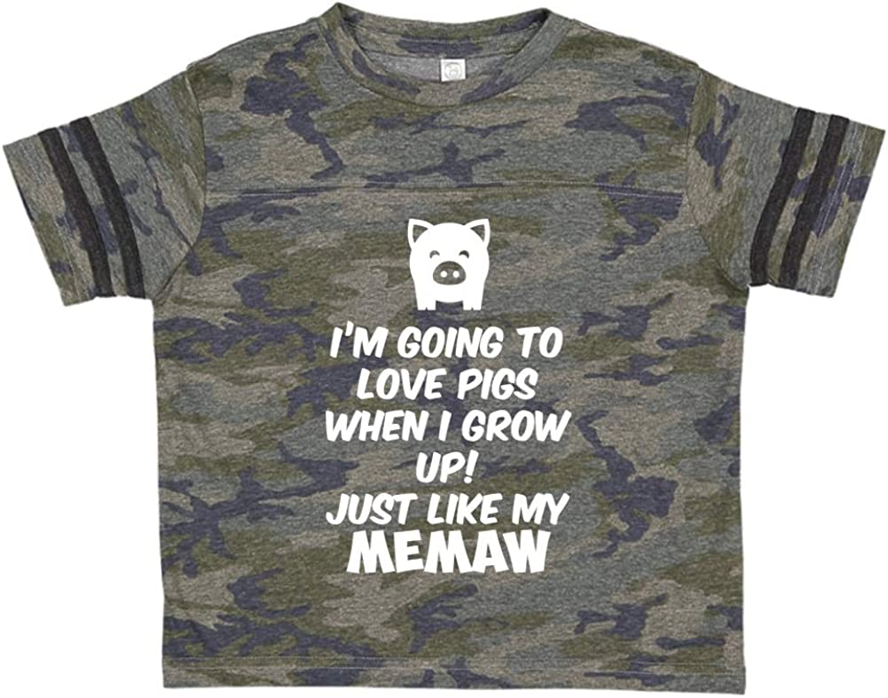 Just Like My Memaw Im Going to Love Pigs When I Grow Up Toddler//Kids Sporty T-Shirt