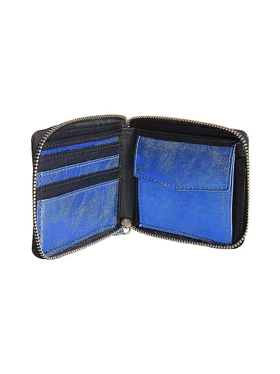 Rich Fashion Metallic Blue RF Logo Card Holder
