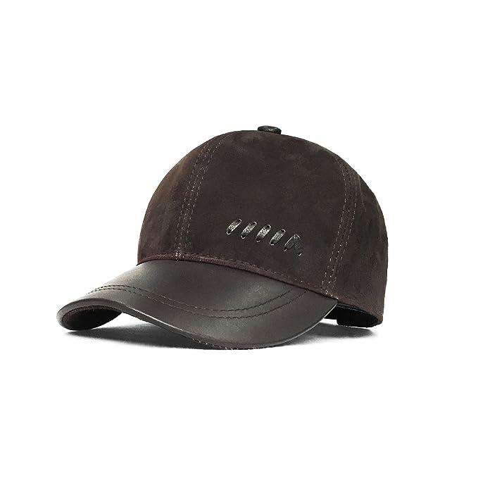 LETHMIK Gorras de béisbol Vintage piel de ante ajustable sombreros con gorra  Marrón café Talla única  Amazon.es  Ropa y accesorios 6558d37a3c5