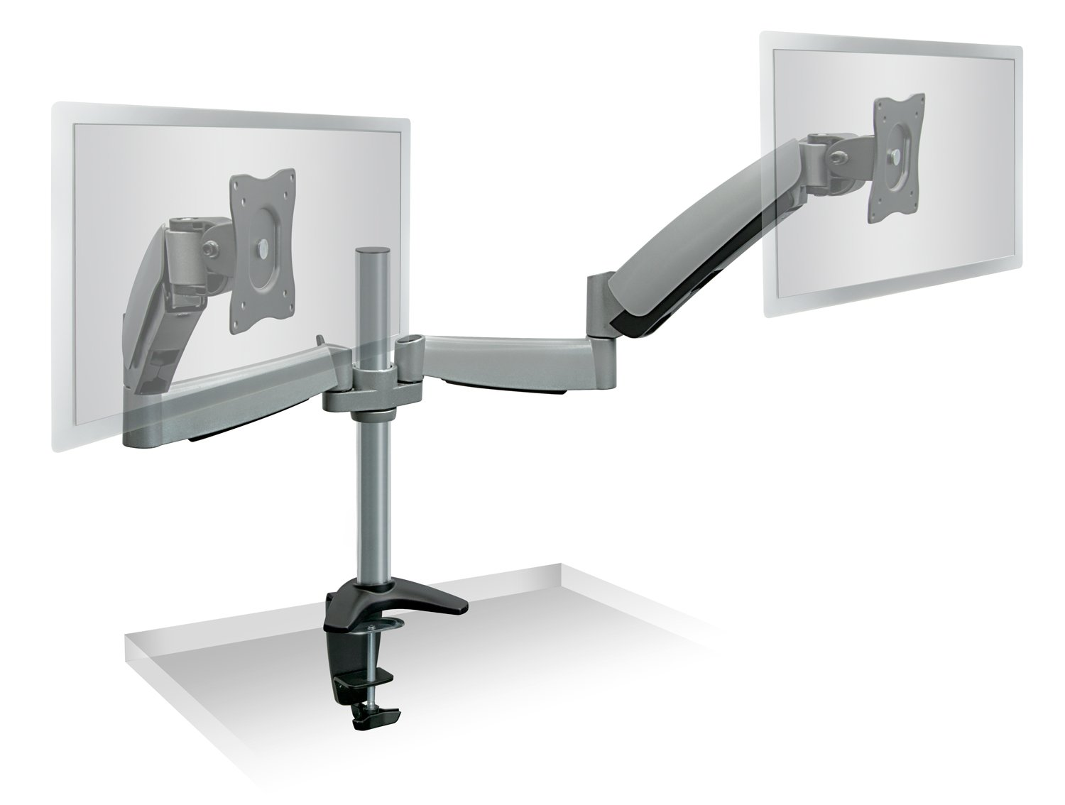 Stupendous Mount It Dual Arm Monitor Mount Dual Monitor Arm Stand Two Full Motion Articulating Adjustable Gas Spring Fits 22 23 24 27 Inch Vesa Compatible Download Free Architecture Designs Xoliawazosbritishbridgeorg