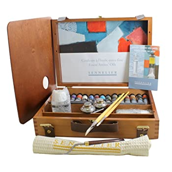 Sennelier Artist Oils Wood Box Set
